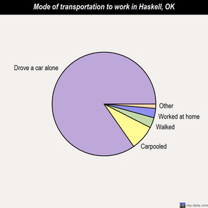 Haskell mode of transportation to work chart