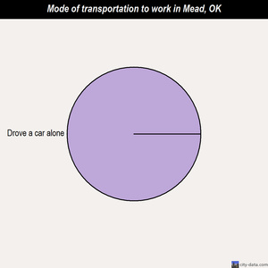 Mead mode of transportation to work chart
