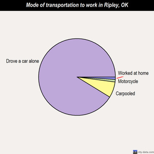Ripley mode of transportation to work chart