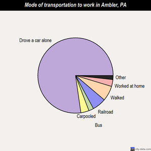 Ambler mode of transportation to work chart