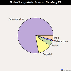 Blossburg mode of transportation to work chart