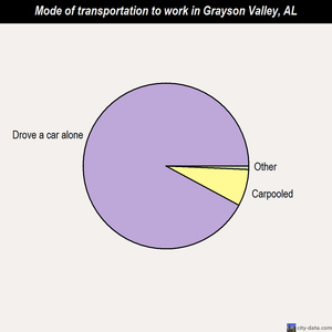 Grayson Valley mode of transportation to work chart