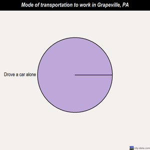 Grapeville mode of transportation to work chart