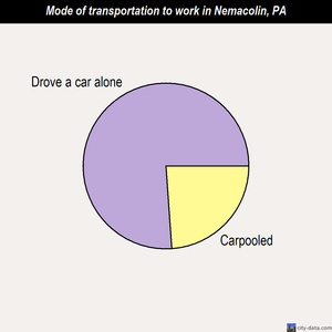 Nemacolin mode of transportation to work chart