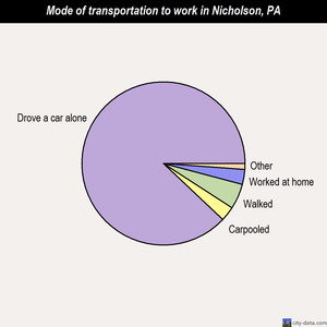 Nicholson mode of transportation to work chart