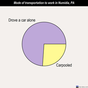 Numidia mode of transportation to work chart