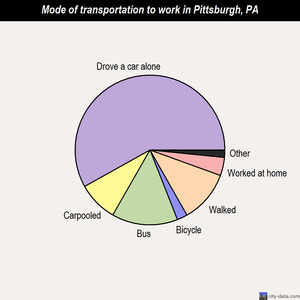 Pittsburgh mode of transportation to work chart