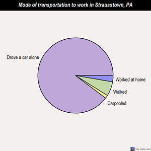 Strausstown mode of transportation to work chart