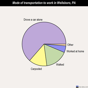 Wellsboro mode of transportation to work chart