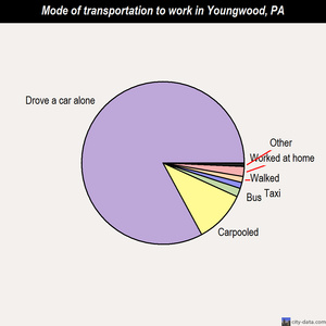 Youngwood mode of transportation to work chart