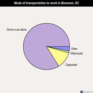 Bowman mode of transportation to work chart