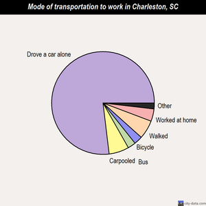 Charleston mode of transportation to work chart