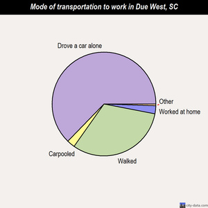 Due West mode of transportation to work chart