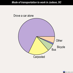 Judson mode of transportation to work chart