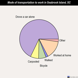 Seabrook Island mode of transportation to work chart