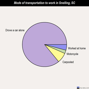 Snelling mode of transportation to work chart
