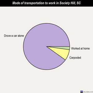 Society Hill mode of transportation to work chart