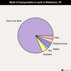 Walterboro mode of transportation to work chart