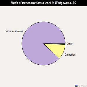 Wedgewood mode of transportation to work chart