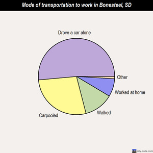 Bonesteel mode of transportation to work chart