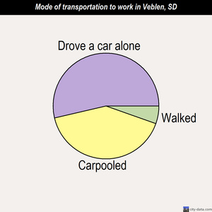 Veblen mode of transportation to work chart