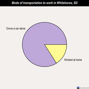 Whitehorse mode of transportation to work chart