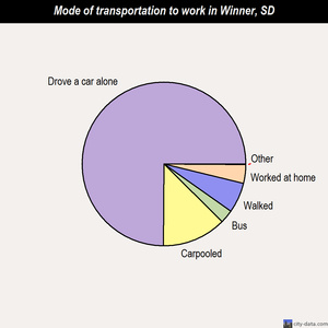 Winner mode of transportation to work chart