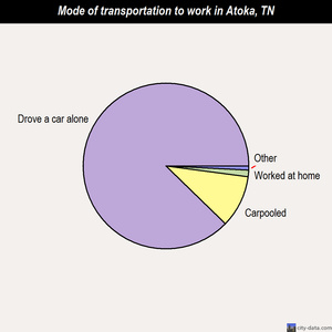 Atoka mode of transportation to work chart