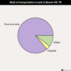 Banner Hill mode of transportation to work chart