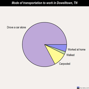 Dowelltown mode of transportation to work chart