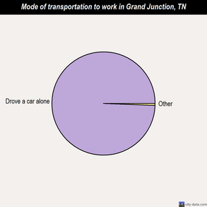Grand Junction mode of transportation to work chart