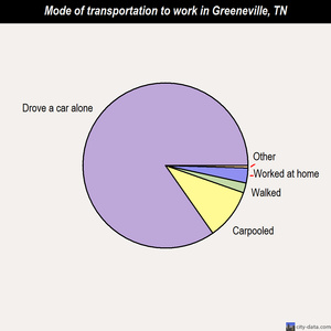 Greeneville mode of transportation to work chart