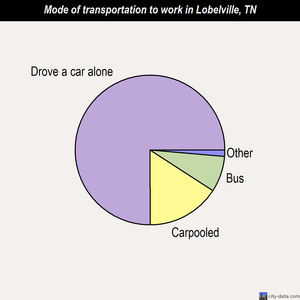 Lobelville mode of transportation to work chart