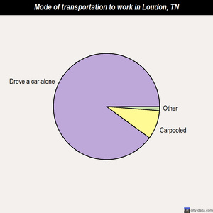 Loudon mode of transportation to work chart