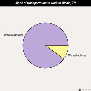 Michie mode of transportation to work chart