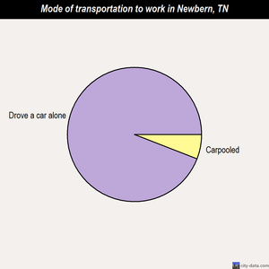 Newbern mode of transportation to work chart