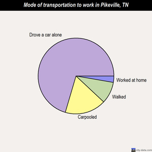Pikeville mode of transportation to work chart