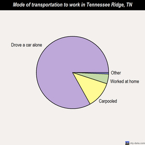 Tennessee Ridge mode of transportation to work chart