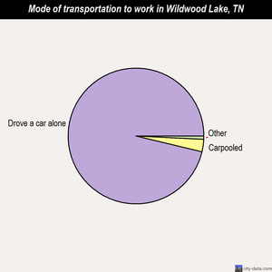 Wildwood Lake mode of transportation to work chart