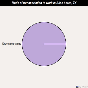 Alice Acres mode of transportation to work chart