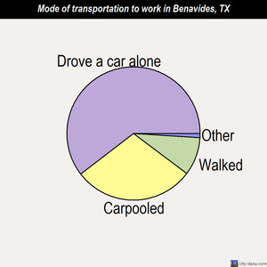 Benavides mode of transportation to work chart