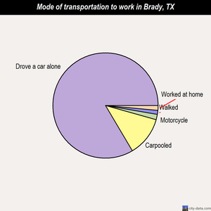 Brady mode of transportation to work chart