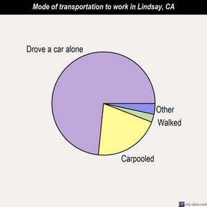 Lindsay mode of transportation to work chart