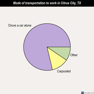 Citrus City mode of transportation to work chart
