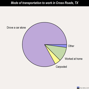 Cross Roads mode of transportation to work chart