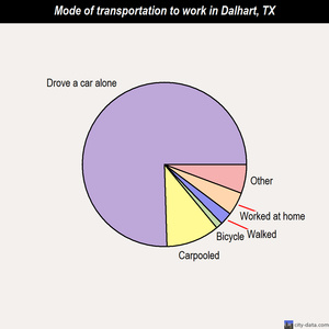 Dalhart mode of transportation to work chart