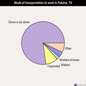 Fabens mode of transportation to work chart