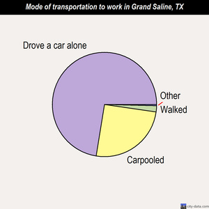 Grand Saline mode of transportation to work chart