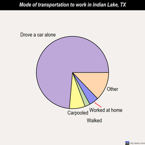 Indian Lake mode of transportation to work chart