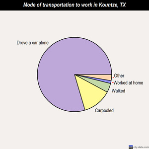 Kountze mode of transportation to work chart